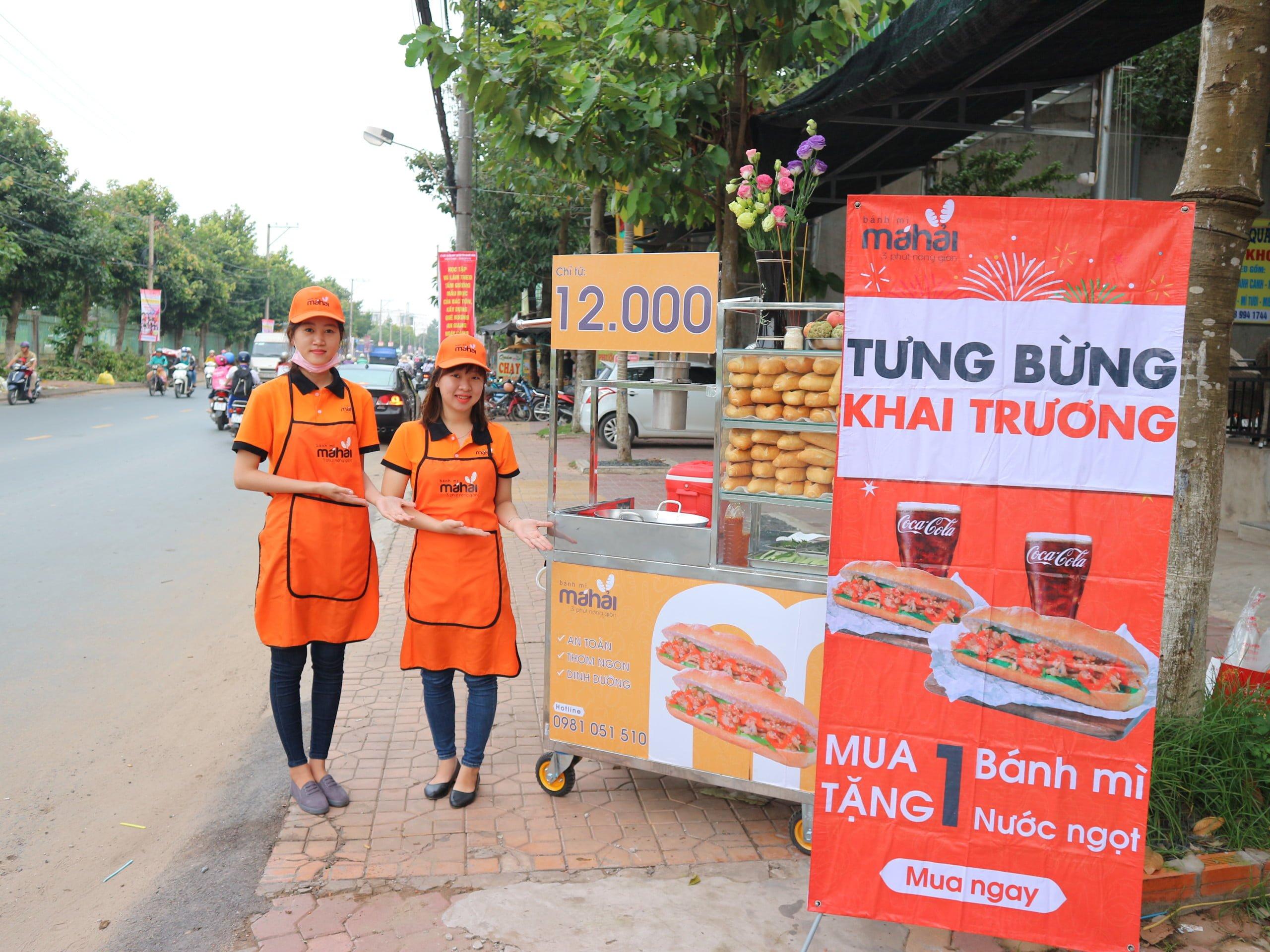 Bánh mì Má Hải phát triển thương hiệu từ xe bánh trên hè phố.